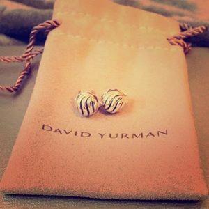 David Yurman 'Sculpted Cable' Stud Earrings,Silver